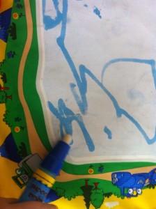 durch Kinderaugen staunen Malen Wasser Aquadoodle