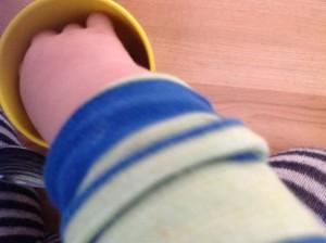 Weintrauben durch Kinderaugen