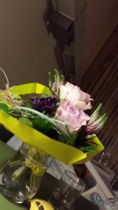 Blumen für Mama im Krankenhaus