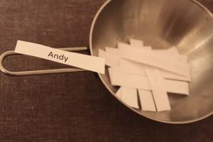 der Gewinner vom Kissen ist Andy