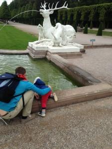 Unser Element ist und bleibt das Wasser und im Schlosspark gibt es unzählige Springbrunnen