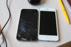 kaputtes Iphone und ganzes Iphone am Muttertagswochenende