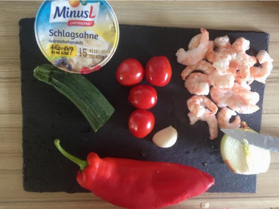 Füllung Shrimps Tomate