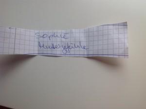 Liebe Sophie, herzlichen Glückwunsch, auch von Dir benötige ich noch deine Adresse.