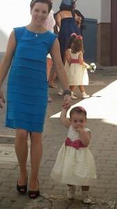 Andalusienmutti mit Tochter einen Tag in meinem Kopf