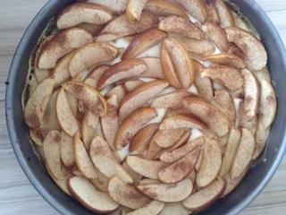 Osterwochenende Apfel-Pudding-Kuchen