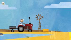 Traktor auf der Fiete Farm