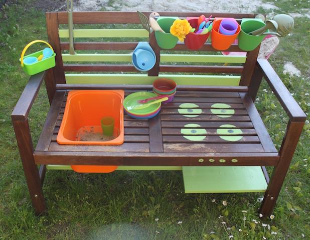 Outdoor Küche Kinder Selber Bauen : Wie ich aus einer gartenbank eine matschküche baute glucke und so