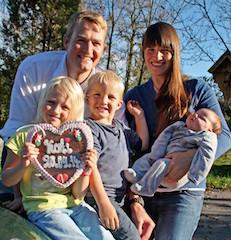 Familie Kinder Ehepaar Wirt