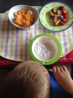 Essens-Alltag Frühstück Obst
