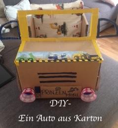Auto Aus Karton DIY Kinder