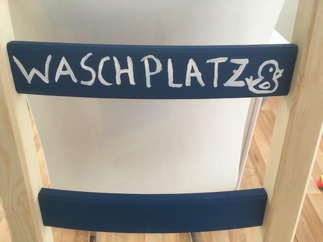 DIY-Waschplatz-Buchstaben