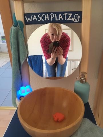 DIY-Waschplatz-Gluckenselfie