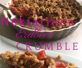 Nektarinen-Erdbeer-Crumble-Rezept