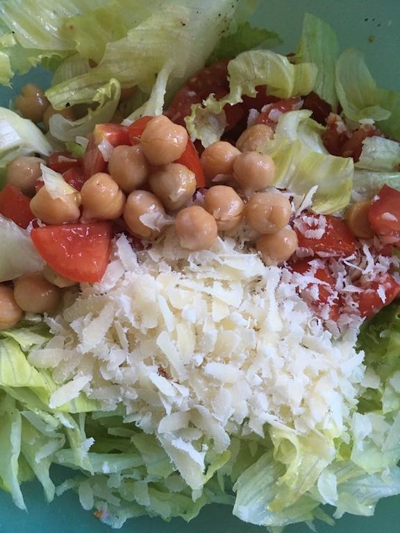Kichererbsen-Salat-leicht