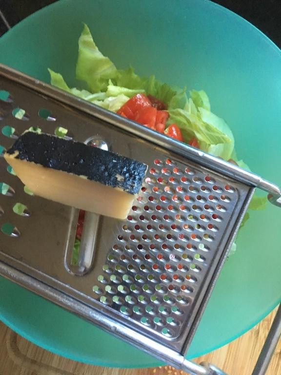 Pecorino-Parmesan-Kichererbsen