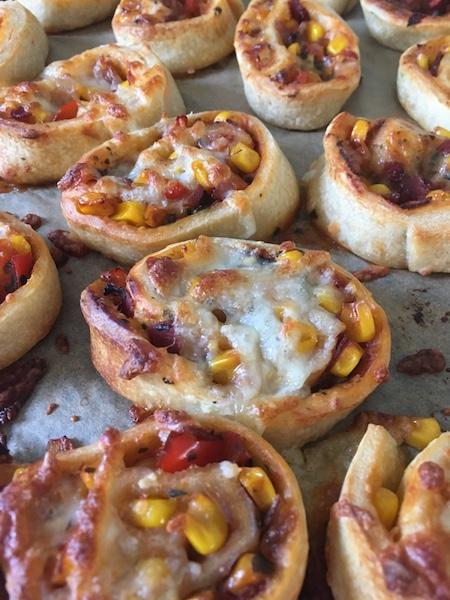 Geburtstagsparty-Pizzaschnecken