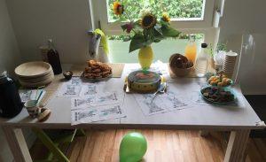 Geburtstagsparty-Unwetter-Umdekorieren