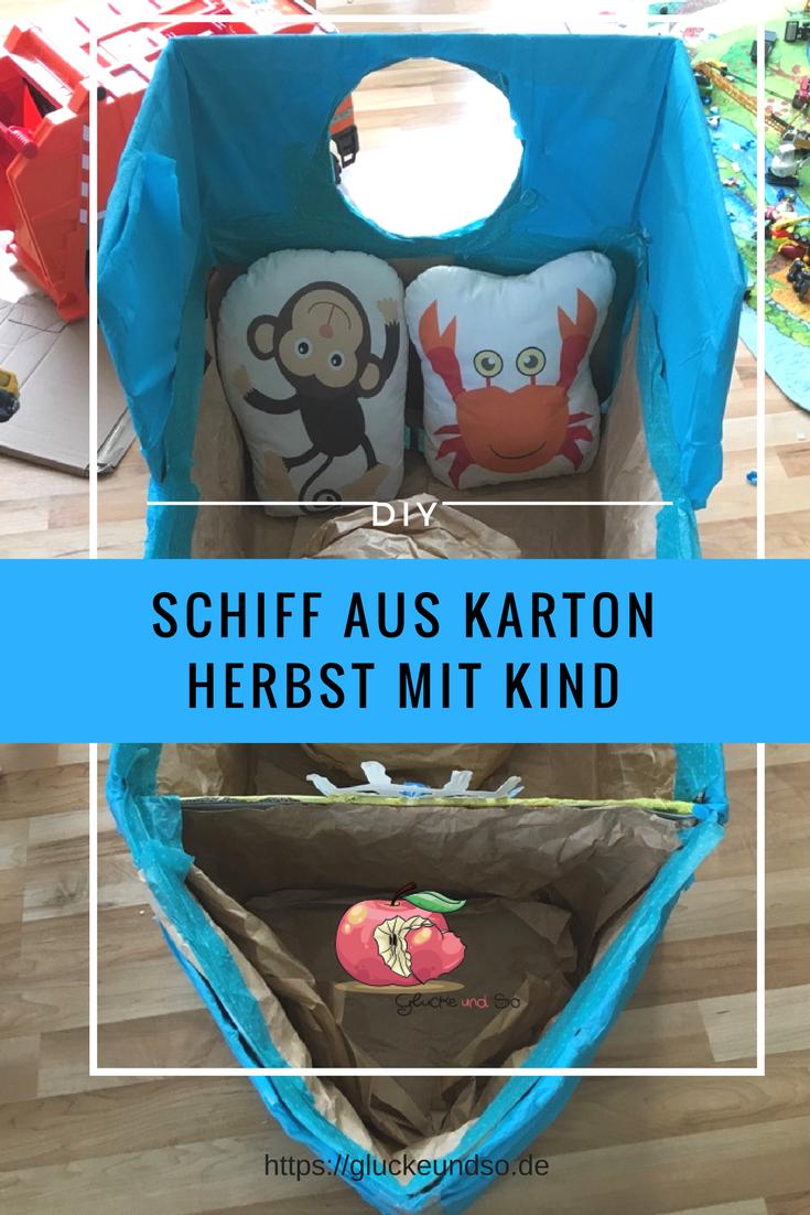 DIY-Schiff-aus-Karton