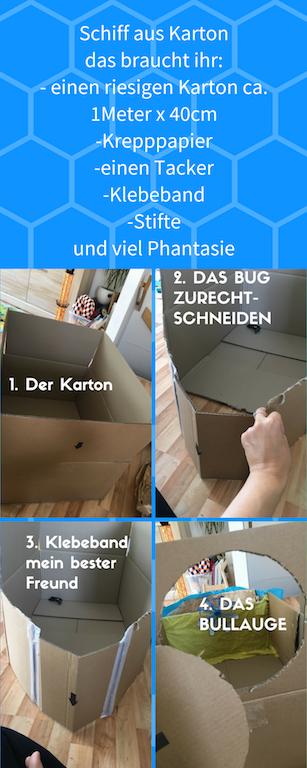 Erste-Schritte-Schiff-Karton