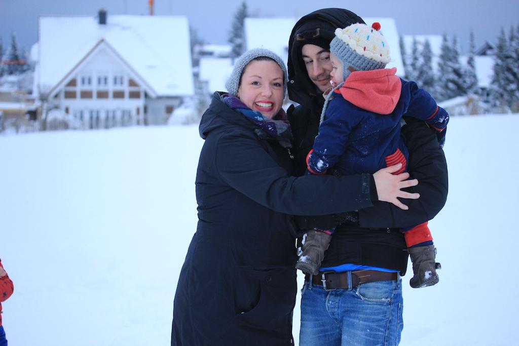 Familie-Fructoseintoleranz-Schnee
