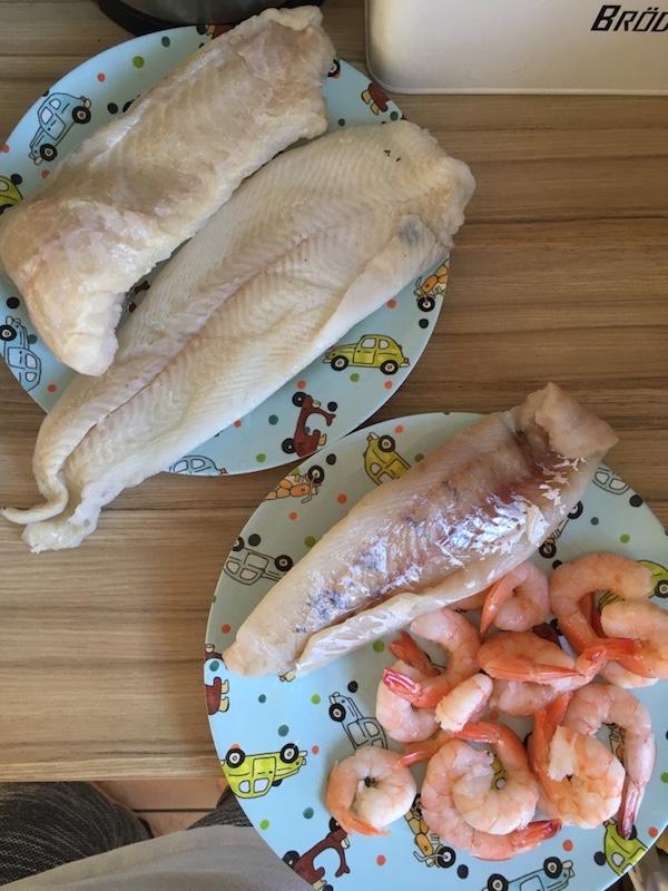 Fischsuppe- Zander Garnelen Heilbutt