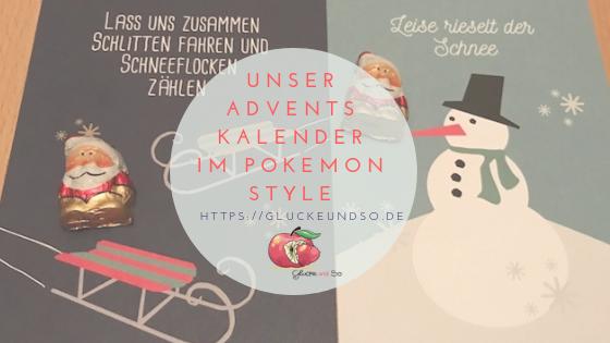 Unser Adventskalender im PokemonStyle
