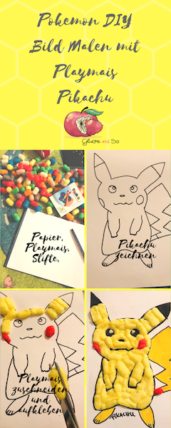 pokemon DIY Bild malen aus Playmais