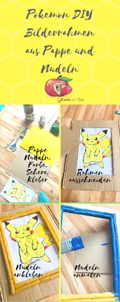 pokemon DIY Bilderrahmen aus Nudeln