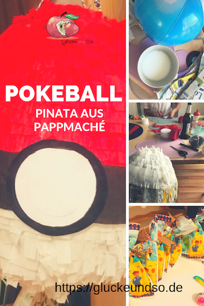Pokeball Pinata Pappmache