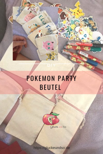 Pokemon Party Tipps Beutel personalisiert