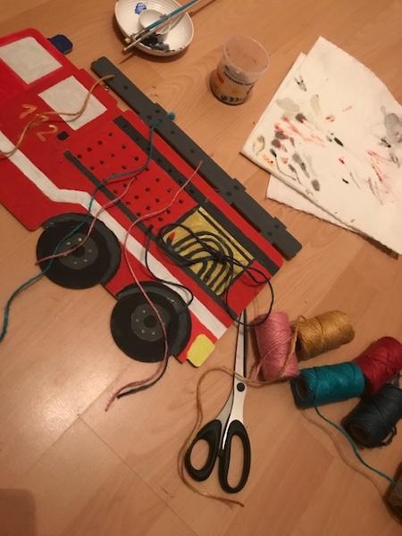 feuerwehr faedelbrett DIY faedeln