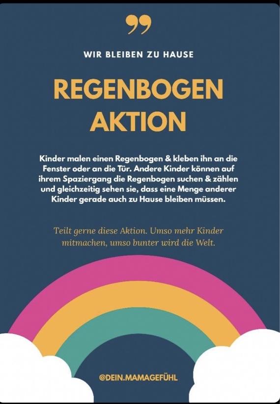 Regenbogen dein.Mamagefuehl Aktion
