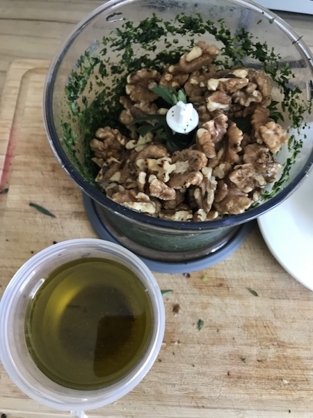 wildkraeuter Pesto Öl nicht mit mixen