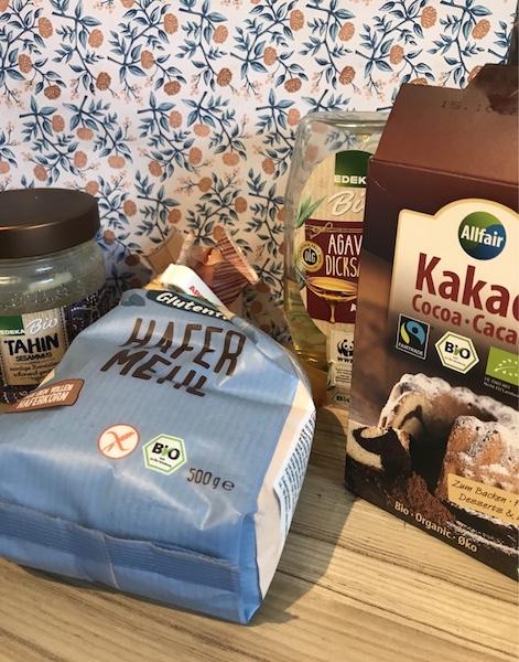 Hafermehl kakao tahini agavendicksaft